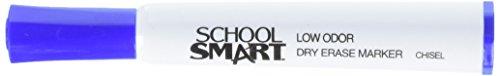 School Smart Dry Erase Markers - Chisel Tip - Pack of 12 - Blue