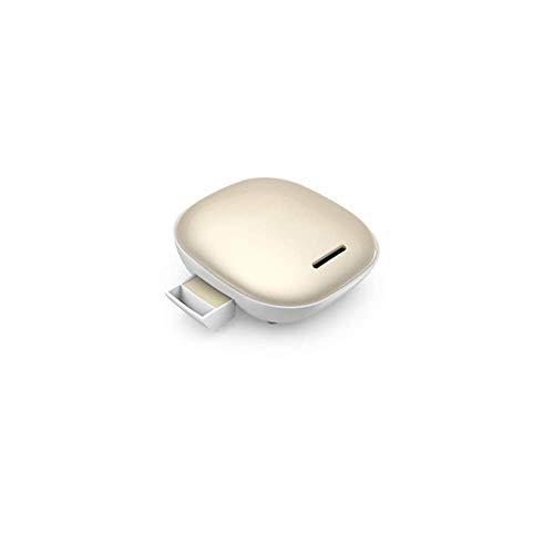 Mini auto-luchtreiniger, draagbare negatieve ionen-luchtfilter, stille ventilator, bediening met één knop, geschikt voor keuken, slaapkamer, goud