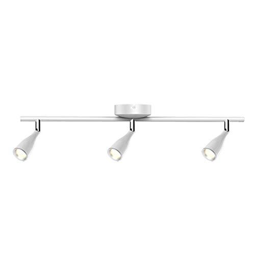 CGC Binnen Verstelbare Wit Drie Plafond Spot LED Bar Licht in 4000k Natuurlijke Witte Kleur Temperatuur Slaapkamer Keuken Lounge Eetkamer