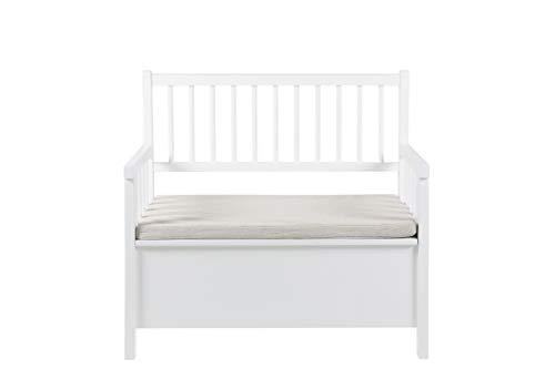 AC Design Furniture Bank Thomas, B: 90 x T:48 x H: 85 cm, MDF, Weiss