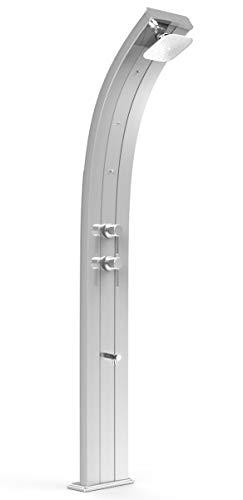 Arkema D350 TL 1300 Dada Top Line Solardusche Silber aus Aluminium mit Zerstäuber-Mischarmatur und 40 Liter Tank Höhe 225 cm