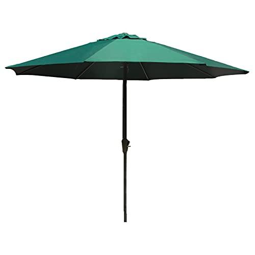 HH- Sombrilla Parasol de Jardín Verde de 9 Pies / 2,7 M, Sombrilla para Exterior para Patio/Playa/Piscina, Sombrillas de Patio con Manivela