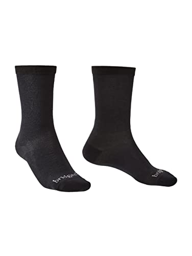 Bridgedale Herren Coolmax Liner Socken, Schwarz, L