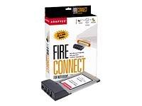 Adaptec Tarjeta Fireconnect Firewire para Ordenador portátil Puerto 3