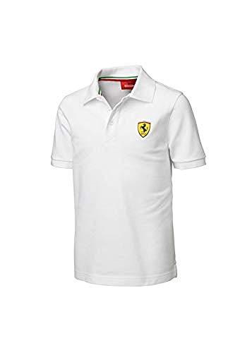 Polo Scuderia Ferrari Small Shield Blanco Talla 1 Año