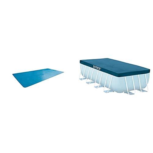 Intex 29028 Cobertor Solar para Piscinas Rectangulares 400 X 200 Cm + Prisma Frame 28037 Cobertor Piscina Rectangular, 389 X 184 Cm