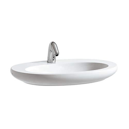 Laufen Waschtisch unterbaufähig Alessi ONE mittig 750x520 LCC weiß, 8189724001041