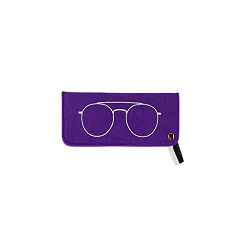 Portátil Fieltro de la bolsa de la bolsa de la bolsa de lectura de las gafas Bolsa Bolsa de resbalón suave en las gafas de sol Manga para la protección de gafas de ojos y almacenamiento de viajes,