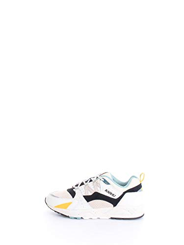 Karhu Sneaker Fusion 2.0 in Pelle E Suede Bianco, Nero E Beige