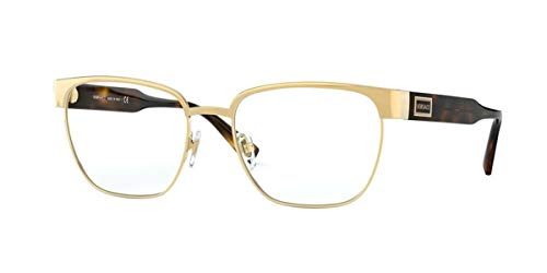 Versace Brille (VE-1264 1460) Acetate Kunststoff - Metall gold - havana dunkel