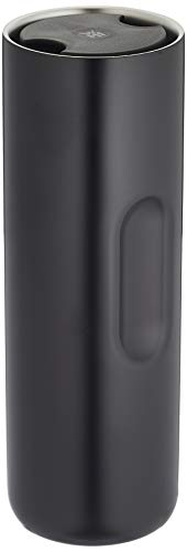 WMF Motion Thermobecher 500 ml, To go Becher für Tee oder Kaffee, Thermosflasche, hält 6h warm/12h kalt, 360°-Trinköffnung, schwarz
