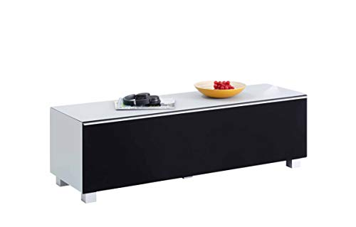 moebel-dich-auf.de Glas Seidengrau matt - TV-Board Soundboard Maja 7736 Soundconcept mit Akustikstoff schwarz in 140x43x42cm