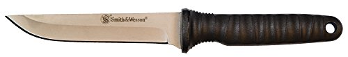 Smith & Wesson SW993 8in High Carbon S.S. Full Tang Fixed Blade Knife with a 4in Clip Point Blade and Grivory Handle for Outdoor, Tactical, Survival and EDC