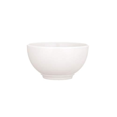 Villeroy & Boch - Twist White Bol Set 6tlg., klassisches Schalen-Set für Müsli/Salate/Desserts, Premium Porzellan, weiß, spülmaschinengeeignet, 650 ml