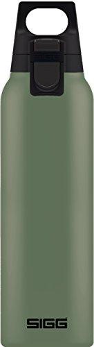 SIGG Hot & Cold ONE Leaf Green Thermo Trinkflasche (0.5 L), schadstoffreie & isolierte Trinkflasche, einhändig bedienbare Thermo-Flasche aus Edelstahl