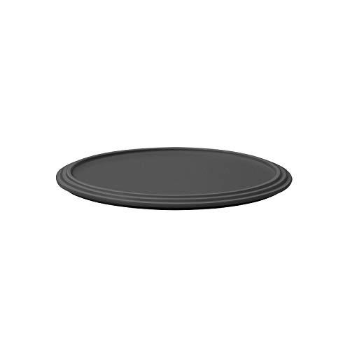 Villeroy & Boch 10-1665-6008 Iconic Servierteller, Präsentationsteller aus Premium Porzellan in erfrischendem Schwarz, spülmaschinengeeignet, 24 cm