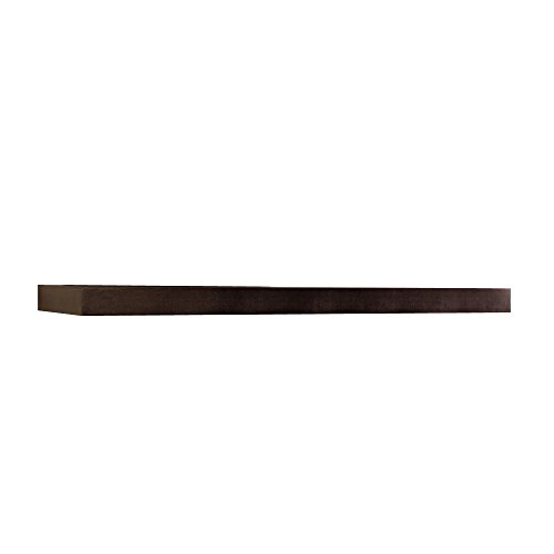InPlace Shelving 9084650 Floating Wall Mountable Shelf with Invisible Brackets, Espresso, 48-Inch Wide by 10-Inch Deep by 2-Inch High