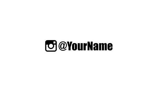 Aangepaste Instagram Naam Vinyl Decal Auto Window Stickers