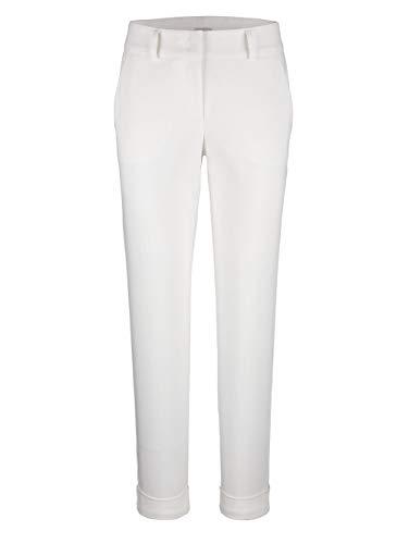 Alba Moda Damen Straight Fit Lange Hose in Weiß mit etwas höherem Formbund