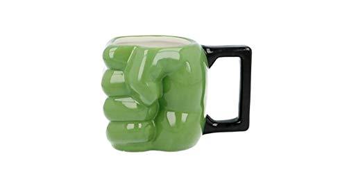 3591; Taza de Cerámica 3D Hulk; puño de Hulk; Capacidad 450 ml; no apto para microondas, no recomendado lavavajillas