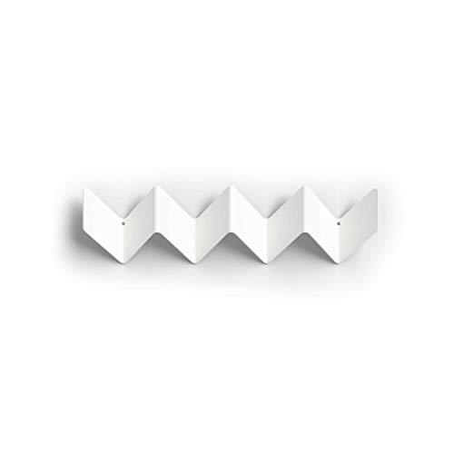 Zigzag Roman Luyken   Perchero de pared pequeño, color blanco