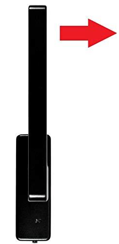 GU Schiebetür PSK Drehgriff DIRIGENT 966/976 DIN Links braun UC5 mit Aussperrsicherung inc. SN-TEC Montageschlüssel