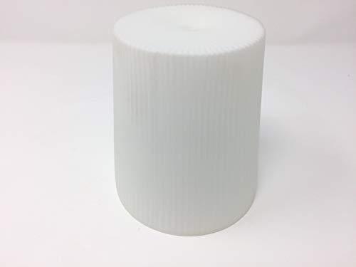 Glas Lampenschirm Ersatzglas Öffnung Loch 10mm Lochmaß Fassung G4 Zylinder Lampenglas weiß matt opal