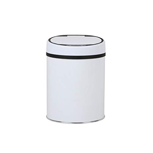 Cubos de basura para baño Cubos de basura para la cocina Bote de basura Bote de basura de inducción de 8L Bote de basura de acero inoxidable para el hogar creativo Bote de basura inteligente Bote de