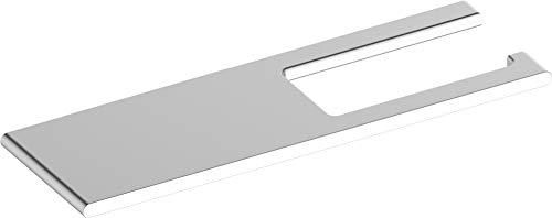 KEUCO Toilettenpapierhalter aus Aluminium silber eloxiert, mit Ablage, WC-Rollenhalter, Papierhalter, für Badezimmer und Gäste-WC, Edition 400