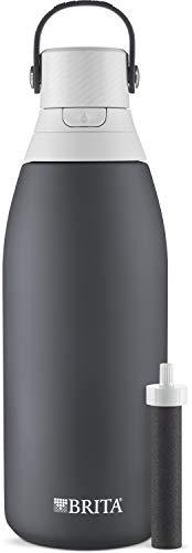 Brita Edelstahl-Wasserfilterflasche, 900 ml, Carbon