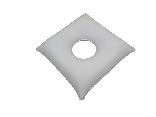 my Hamam, Massagekissen Zentrumskissen, Lochkissen Therapiekissen ca. 35x35 cm weiß aufblasbar, für nasse, ölige und trockene Behandlungen