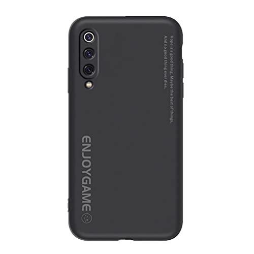 Grandcaser Capa para Mi 9 Pro 5G ultrafina e macia de silicone TPU com absorção de choque e anti-queda para Xiaomi Mi 9 Pro 5G 6,4 polegadas – Preto