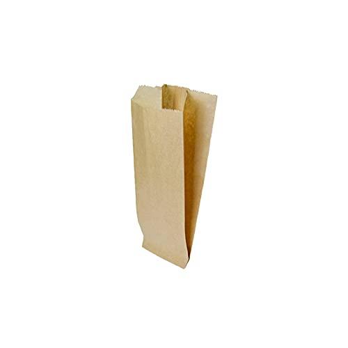 Palucart® , Sacchetti di Carta Kraft per Alimenti Avana Formato 17 x 38 Scatola da 200 Pezzi Pane Dolci Contatto Alimentare