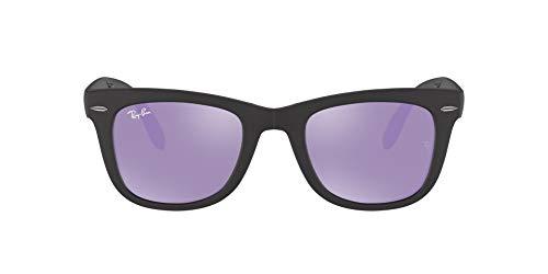 Ray-Ban Folding Wayfarer Gafas de sol, Matte Black, 51 para Hombre