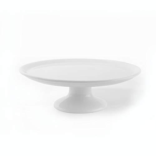 Holst Porzellan TP 032 Tortenplatte 32 cm auf Fuß, weiß, 32.5 x 32.5 x 10.5 cm