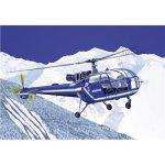 Heller 80286 Modellbausatz Aerospatiale SA 316 Alouette III Gendarmerie