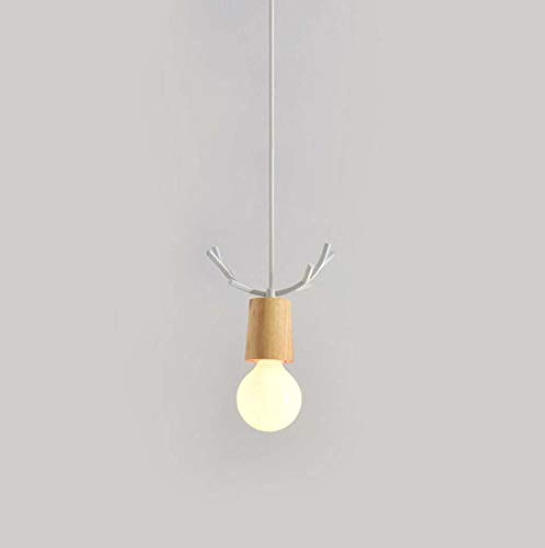 E27 Moderne Einfache Einstellbare Kronleuchter, Nordic Hirschkopf Form Deckenpendelleuchte, Bekleidungsgeschft Studie Cafe Hngelampe,A