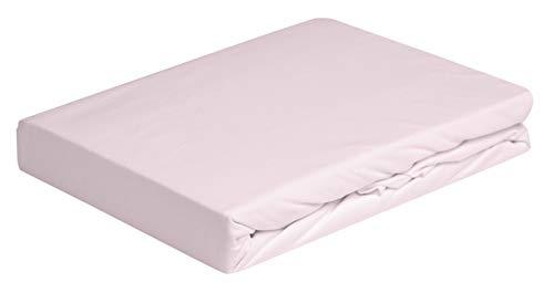 Daunen Step | Sábana de algodón con Esquinas elásticas | La Medida: 140-160 x 200 cm . | Color:Rosa