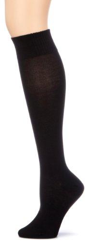 """Nur Die Damen Kniestrumpf Blickdicht 495942/Da \""""Bambus Knie\"""" Baumwoll Kniestrümpfe Knie\"""", schwarz (schwarz 940), Gr. 35-38"""