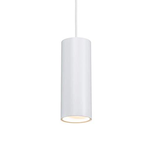 QAZQA Diseño Lámpara colgante diseño blanca - TUBO Aluminio Cilíndra Adecuado para LED Max. 1 x 50 Watt