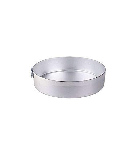 Pentole Agnelli Tortiera Cilindrica con Anello, Alluminio, Argento, 24 cm