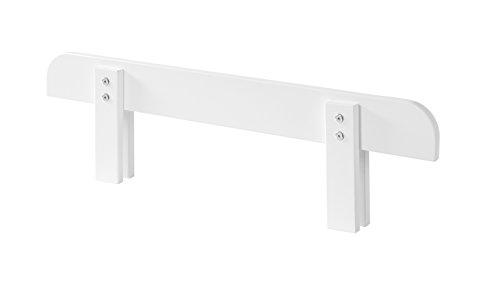 Vipack Kiddy Absturzschutz für Einzelbett, Holzwerkstoff, weiß, 90 x 6 x 25 cm