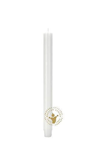 Stabkerzen Durchgefärbte weiß 185 x 26 mm, 20 Stück