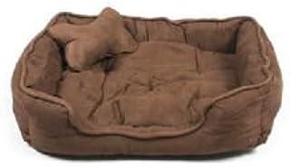 slatters be royal store Rectangular Shape Reversable Dual Brown Color Ultra Soft Ethnic Designer Velvet Bed for Dog/Cat (E...