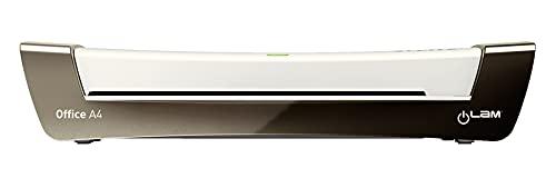 LLeitz A4 Laminiergerät, Office, Inkl. Laminierfolien Starterkit, Silber/Weiß, iLam, 72510084