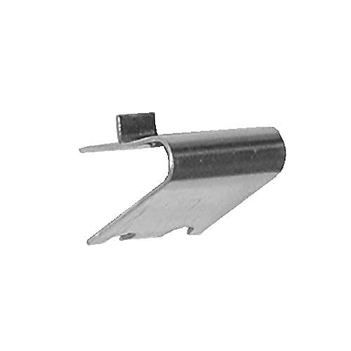 Pack 10 x Soportes Cremallera Sin Tope en Acero Inoxidable AISI-304 (1 mm) · Soporte para Baldas dentro de Armarios Frigorificos o Vitrinas Refrigerada · Especial para Muebles Hostelería