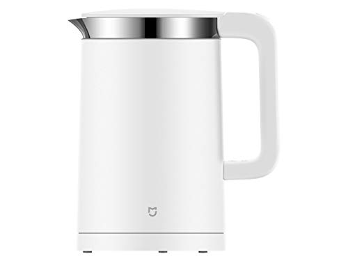 Xiaomi Mi Smart Electric Kettle YMK1501 EU version - Hervidor eléctrico inteligente con interior de acero inoxidable, control de temperatura durante 12h, 1.5 litros, 1800W, color blanco