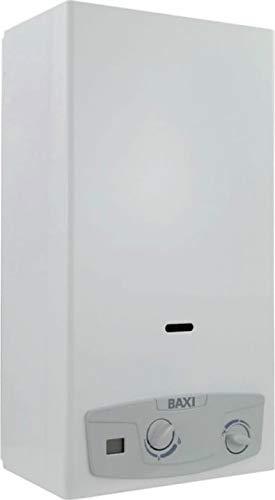 Baxi Acquaprojet Blue 14i - Scaldabagno a Gas GPL 14 Lt min, Camera Aperta Tiraggio Naturale