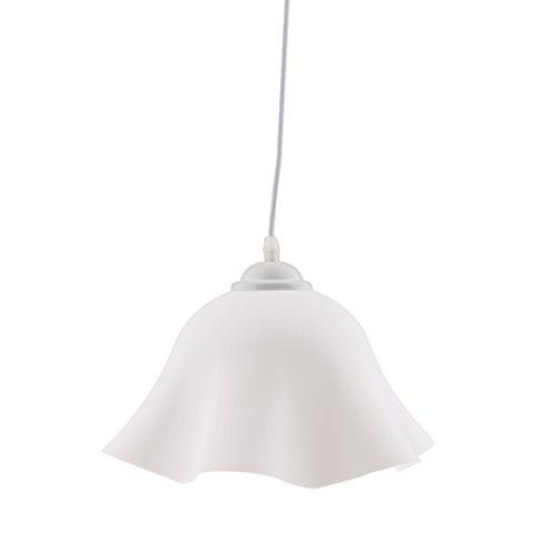 Sharplace Abat-jour Suspension de Fleur en PVC Lampe au Plafond Décoration - Blanc