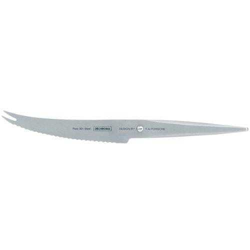 Chroma Messer Type 301, P-10 – Tomatenmesser mit 12 cm Klinge, Design by F.A. Porsche, Extra scharfes Küchenmesser mit Wellenschliff, Gemüsemesser mit ergonomischem Griff